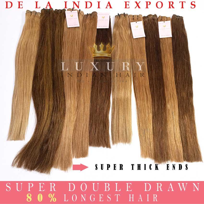 double drawn hair, super double drawn hair, virgin hair, indian hair, top hair,